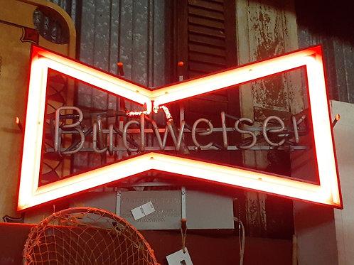 Vintage Neon Budweiser Sign
