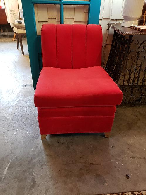 Red Velvet Chair