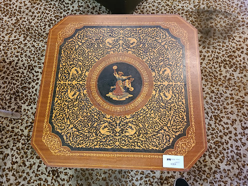 Intricately Inlaid Wood Coffee Table