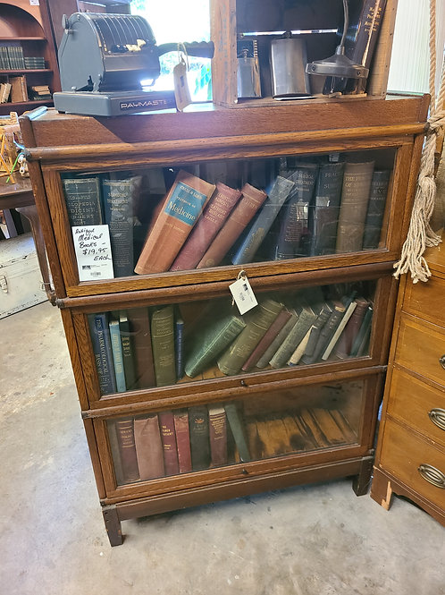 3 Stack Barrister Bookcase