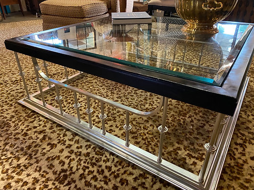 Stainless Steel  and glass cocktail/coffee table