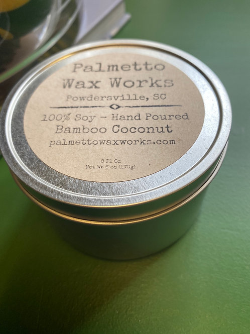 8oz Soy Candle - Bamboo Coconut