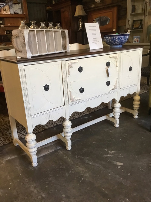 1920s sideboard.   Refurbished with walnut stained top