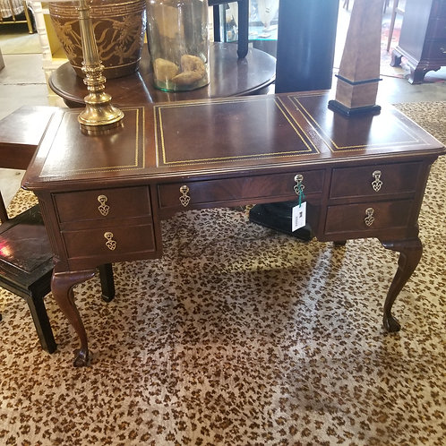 """Sligh"" Writing Desk with Leather Top"