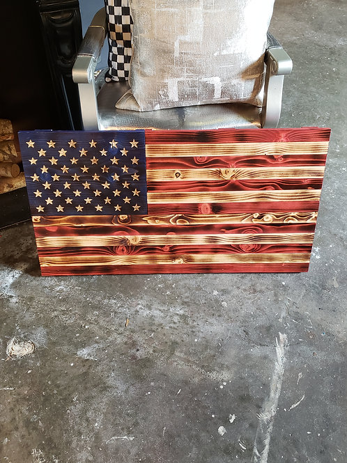 Handcrafted American Flag Wood Art