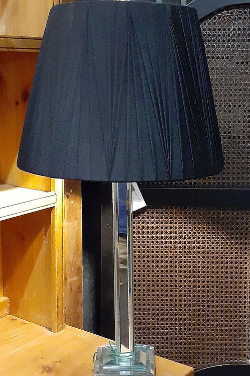 Mirrored Lamp with Black Shade