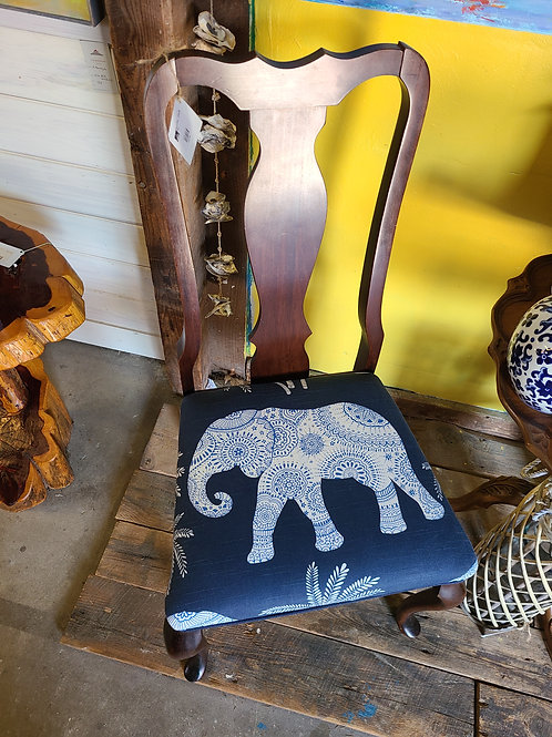 Elephant Print Side or Desk Chair