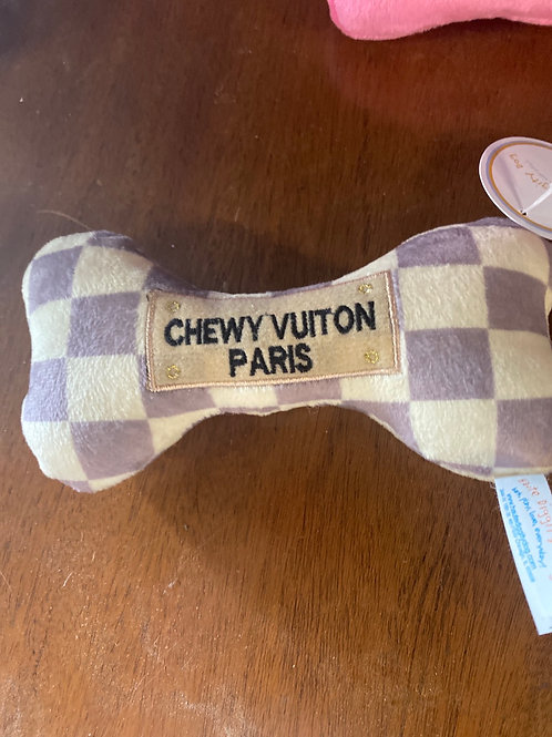 Chewy Vuitton Squeaky  Dog Toy