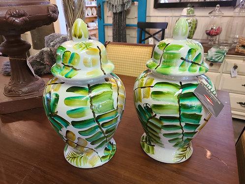 Painted Fern Jar