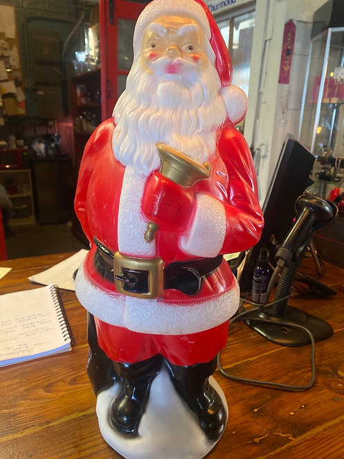 1969 Blow Mold Empire Santa with Bell