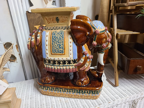 Mid Century Painted Elephant