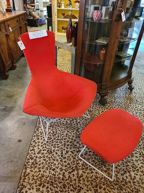 1950's MCM Harry Bertoia Bird Chair & Ottoman