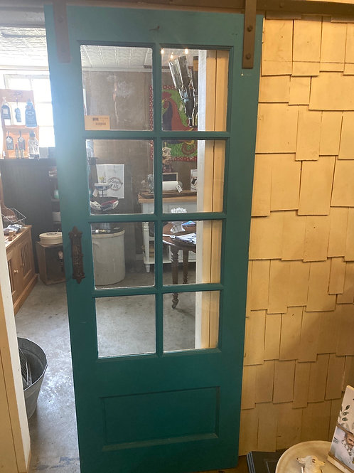 8 Pane Door with barn door hardware kit