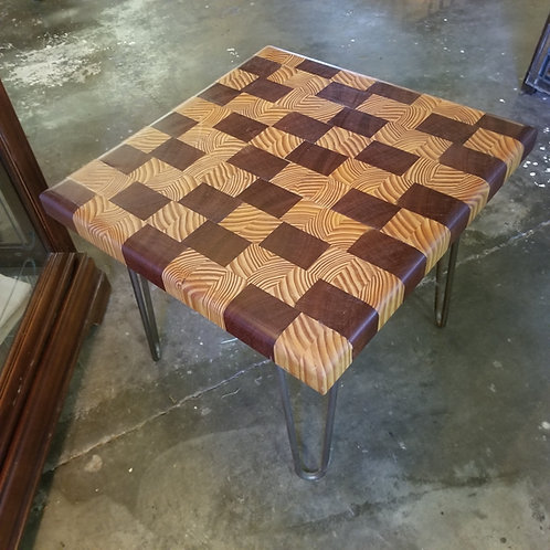 End Grain Board Table