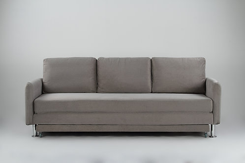 Cozy 3 Seater Pull Out Sofa Bed - Grey YZ138