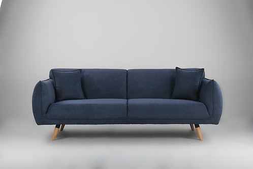 Cozy 3 Seater Sofa - Dark Blue YZ297