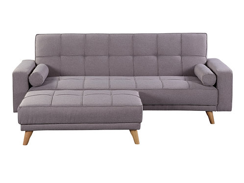 Cozy 3 Seater Sofa Bed & Bench - Grey YZ159
