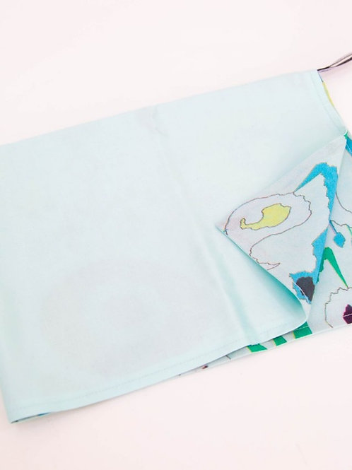 Шелковое полотенце двухслойное