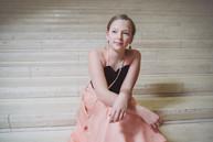 Anna Lindh kids custom gown