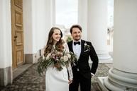 Anna Lindh custom bridal gown