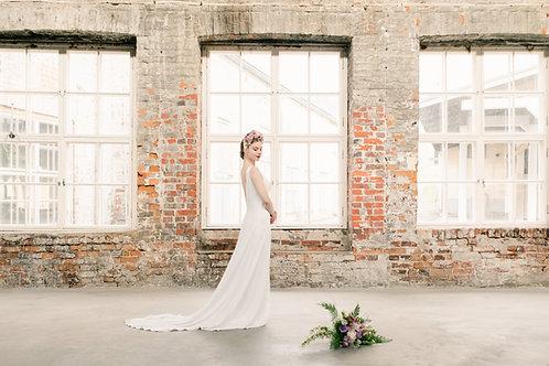 Swan silk bridal gown