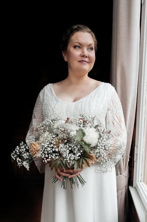 Floral bridal gown