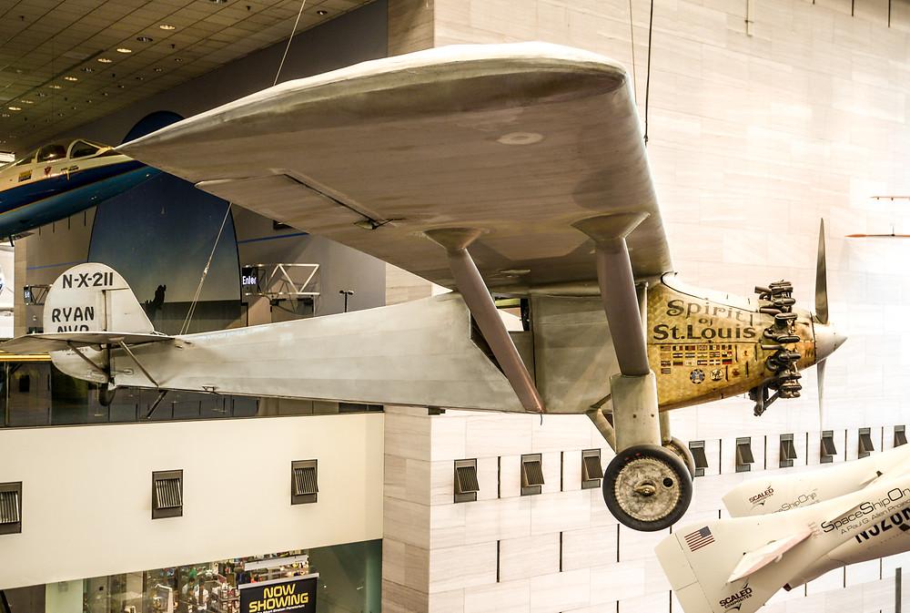 Die Spirit of St. Louis. Ein Geschenk von Charles Lindbergh.