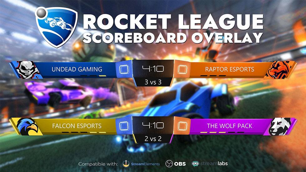 Rocket League Scoreboard Overlay