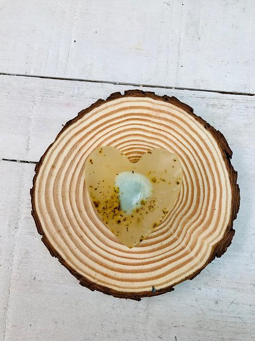 Hemp & Lemongrass Oil Heart Soap
