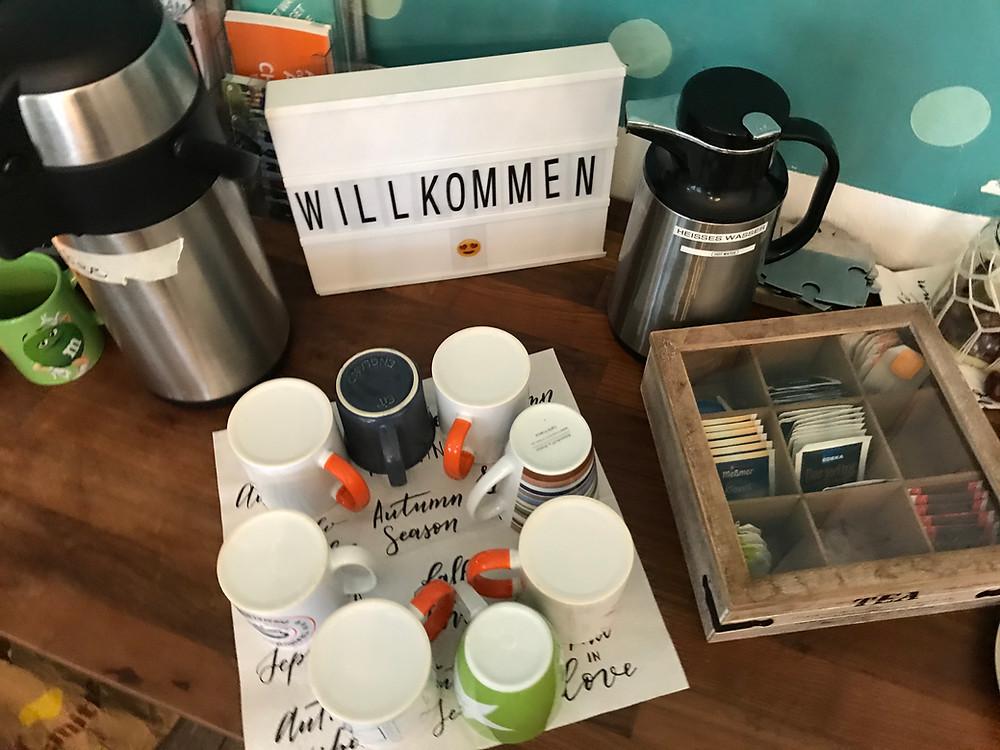 Kaffe und Tee zur Verpflegung