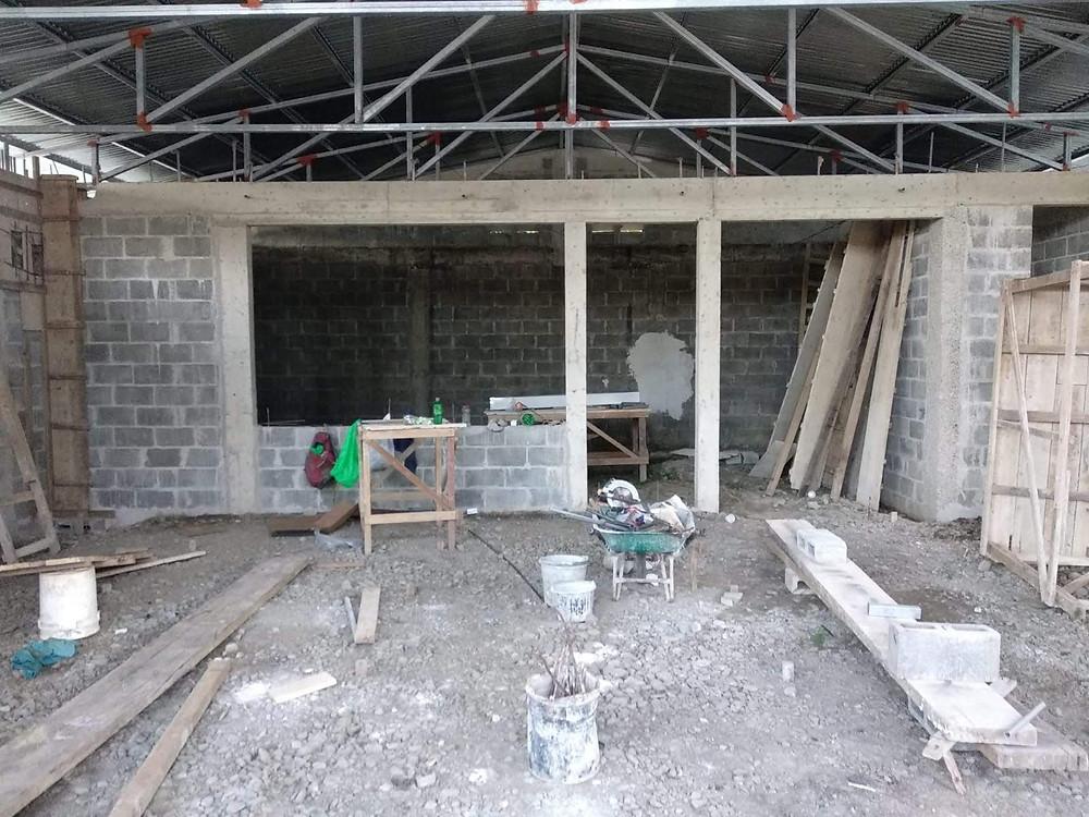Stand der Baustelle vor Beginn der Arbeit