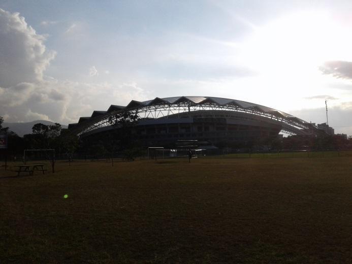 Auf das Estadio Nacional de Costa Rica treffe ich immer auf meiner Joggingrunde im Parque La Sabana.
