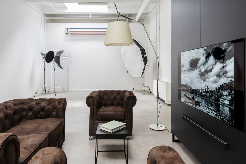 salotto-sala posa I sitting area-shoot space