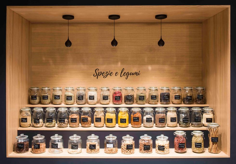 espositore spezie e legumi I spices and legumes exhibitor