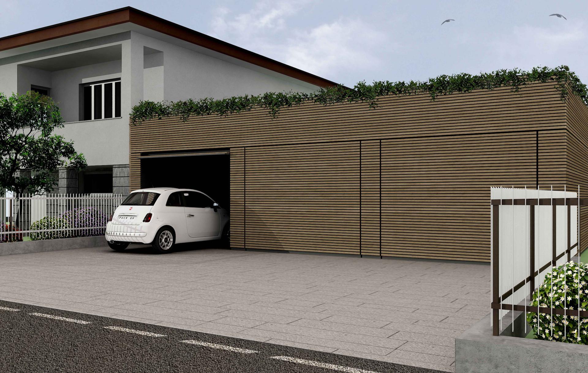 box auto+terrazzo I garage+terrace