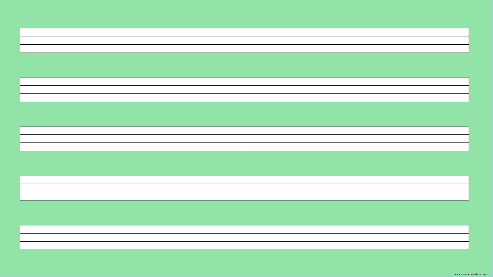 ActivInspire Lineatur 2.Klasse grün