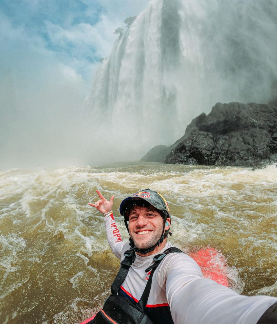 Extreme kayaker Dan Jackson kayaking at Victoria Falls