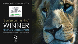 Wildlife Artist of the year 2014 - Winner People's choice Prize