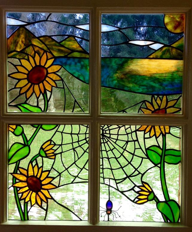 Spiderweb Sunflowers
