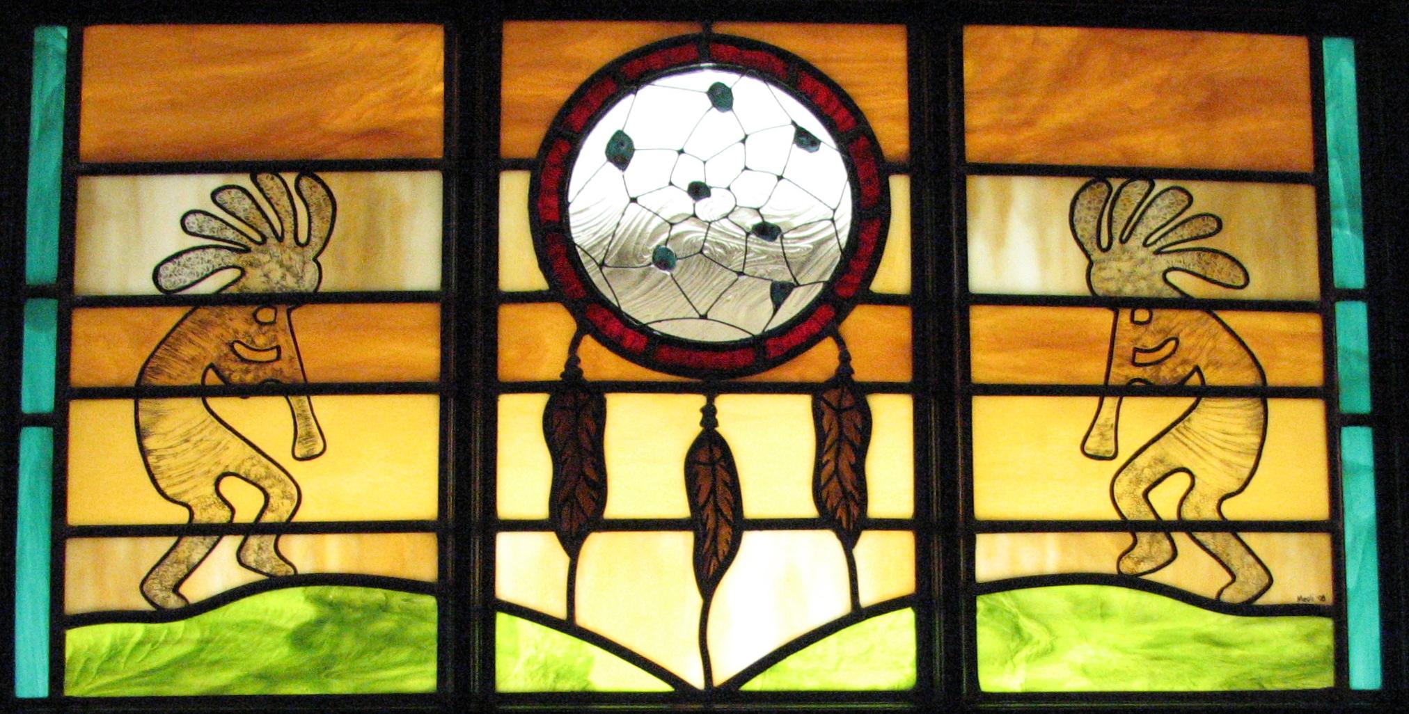 Dreamcather Kokopelli Triptych