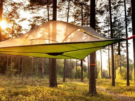 Ainutlaatuinen Tentsile-telttamajoitus Sulosaaressa