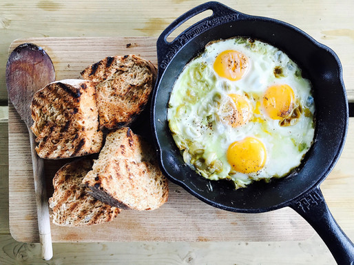 Skillet Eggs - our favourite camp breakfast