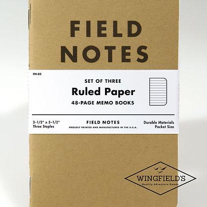 Field Notes - Original Kraft - Ruled 3-Pack