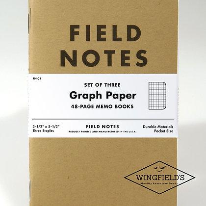 Field Notes - Original Kraft - Graph 3-Pack