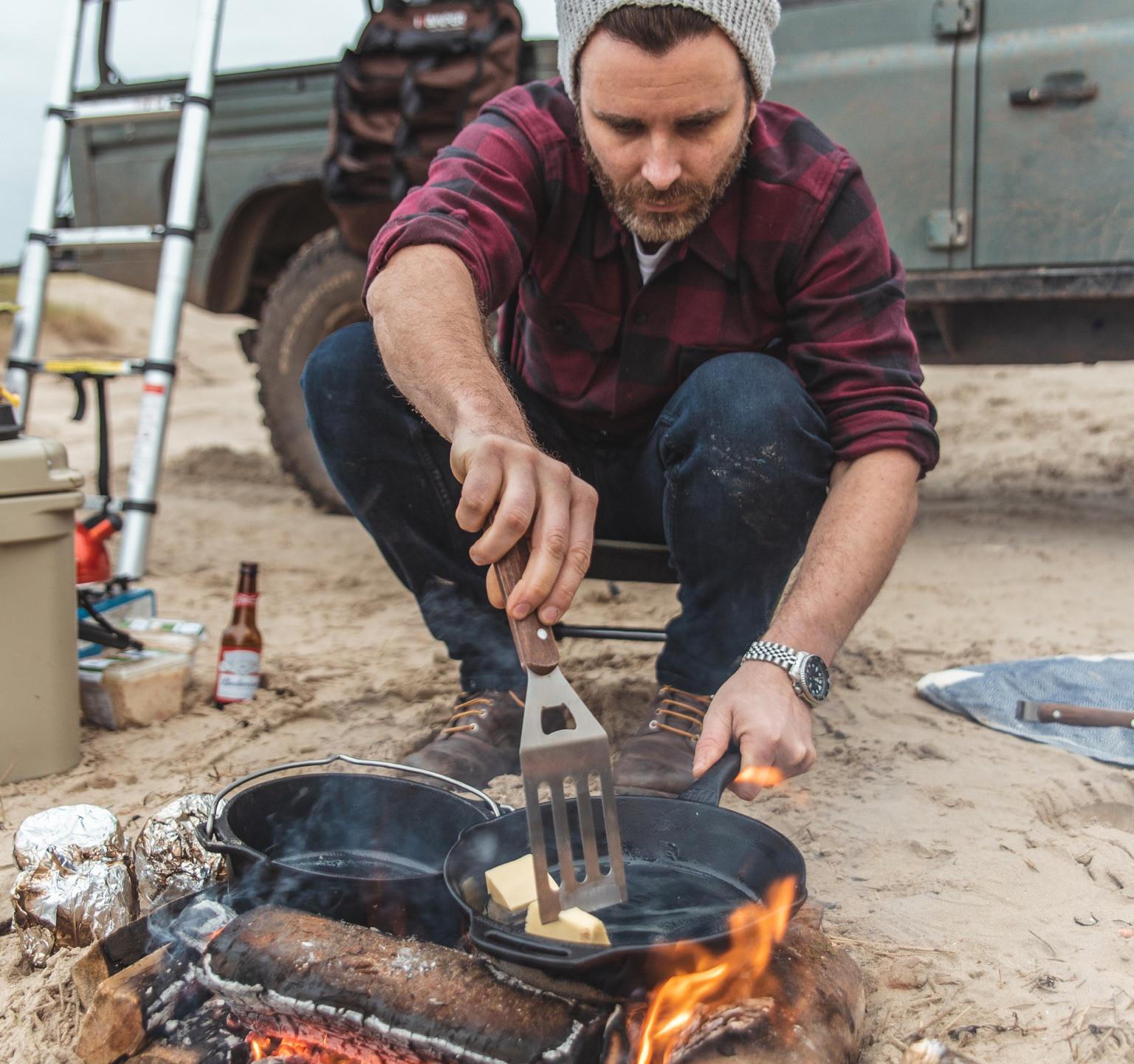 Ty Worthington Defender 130 Keswick Green camp cooking