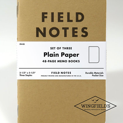 Field Notes - Original Kraft - Plain 3-Pack