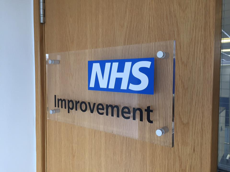 NHS Clear Acrylic Plaque