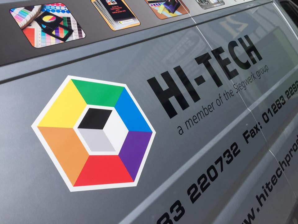 Full colour prints with vinyl letter