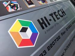 Full colour prints with vinyl letter