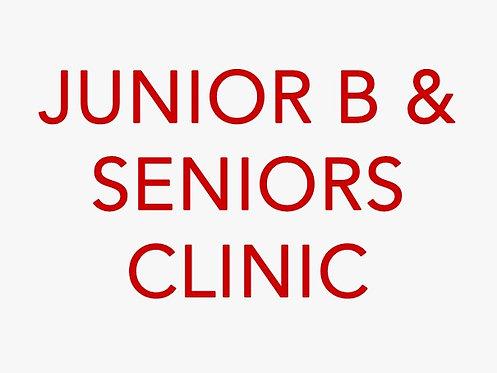 Junior B & Seniors Pre-Season Clinic